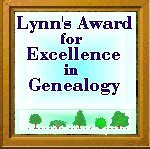 Lynn's Award For Genealogical Excellence