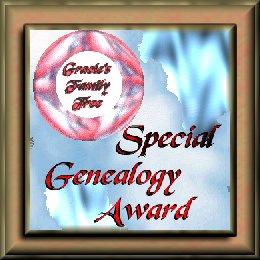 SPECIAL GENEALOGY AWARD