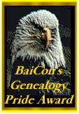 BaiCon Genealogy Pride Award