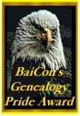 BaiCon Genealogy Pride Award