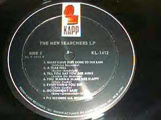 The New Searchers LP - US Album label