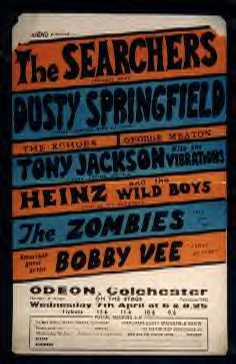 Concert handbill - April 7, 1965 at the Odeon, Colchester, UK