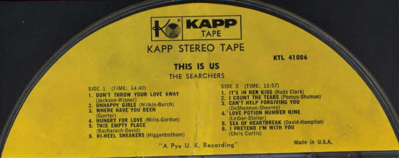 This Is Us - Reel to Reel tape label